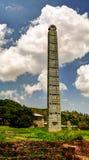 Axum steles i Etiopien Arkivbild