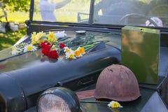 Ay 9, торжество через 73 года после Второй Мировой Войны, людей, цветков Стоковая Фотография RF