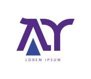 AY Logo Design Royalty Free Stock Photos