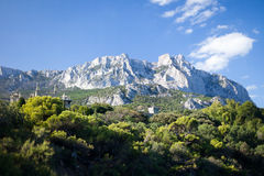 Ay-Petri mountain. Alupka, Crimea, Ukraine royalty free stock photo
