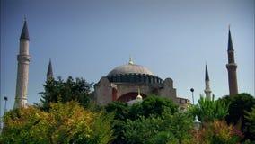 Aya索菲娅清真寺在伊斯坦布尔 股票录像