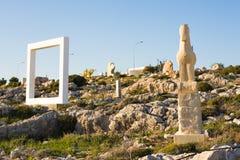 Aya Napa, Chypre - 17 février 2017 : Île de la Chypre, le parc international de sculpture Photos stock