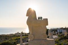 Aya Napa, Chypre - 17 février 2017 : Île de la Chypre, le parc international de sculpture Images libres de droits
