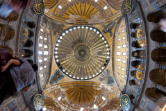 Aya Sofia. The interior of Aya Sofia museum in istanbul royalty free stock photography