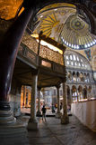 Aya Sofia. The interior of Aya Sofia museum in istanbul royalty free stock images