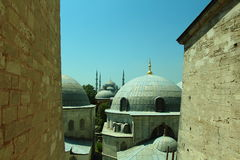 Aya sofia. And blue mosque royalty free stock photography
