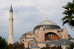 Aya Sofia church in Istanbul. The iconic church of Aya Sofia (Santa Sofia) in Istanbul, Turkey royalty free stock images