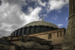 Aya Sofia. On a cloudy day stock photography
