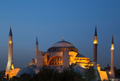 Aya Sofia at Dusk Royalty Free Stock Photography