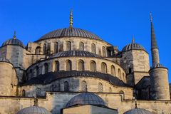 Aya Sofia Mosque in Istanbul, Turkey. View of Aya Sofia Mosque in Istanbul, Turkey royalty free stock image