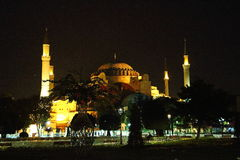 Aya sofia. At night in isstanbul royalty free stock images