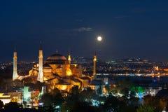 Aya sofya在伊斯坦布尔 库存照片