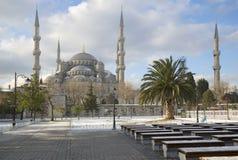 Aya Sofya 1月天清真寺的看法  伊斯坦布尔 免版税库存照片