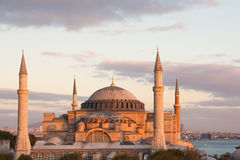 Aya Sofya at dusk Royalty Free Stock Image