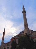 The Aya Sofya (Hagia Sofia). The Aya Sofya against a cloudy sky, Istanbul, Turkey Royalty Free Stock Photo