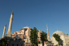 Aya Sofya (Hagia Sofia), Istanbul, Turkey. The Byzantine church of Aya Sofya (Hagia Sofia) in Istanbul, Turkey royalty free stock image