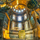 Aya Sofya (Hagia Sophia) internal view Royalty Free Stock Images