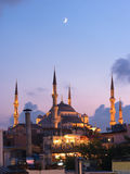 Aya Sofya Mosque And Arabian Moon Royalty Free Stock Images