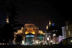 Aya Sofya at night, Istanbul Stock Photography