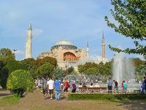 Aya Sofya, now a museum in Istanbul, Turkey Stock Image