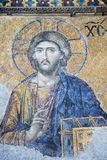Aya Sophia. Church and mosque in Istanbul, mosaic completed in 13-14th centuries is one the best know samples of mosaic art royalty free stock image