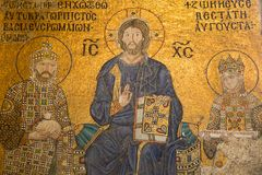 Aya Sophia. Church and mosque in Istanbul, mosaic completed in 13-14th centuries is one the best know samples of mosaic art stock photo