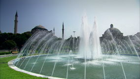 Aya Sophia Mosque in Istanbul with fountain Stock Photos