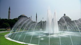Aya Sophia Mosque in Istanbul with fountain Stock Image