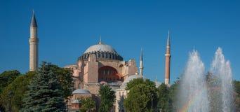 Aya Sophia panoramic view Stock Image