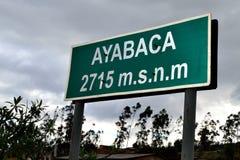 Ayabaca - Peru Stock Afbeelding