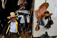 Ayabaca - Peru. Saddles - Market in AYABACA. Department of Piura .PERU stock images