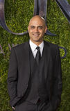 Ayad Akhtar Arrives at 2015 Tony Awards. Pakistani-American novelist and playwright Ayad Akhtar, arrives on the red carpet for the 69th Annual Tony Awards at Stock Photography