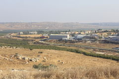 Ayalon谷在以色列 免版税图库摄影