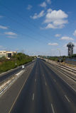 Ayalon Highway, Tel Aviv, Israel. Empty roadway of Ayalon Highway in Tel Aviv, Israel on sunny day Royalty Free Stock Photos