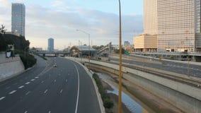 Ayalon huvudväg i Tel Aviv arkivfilmer