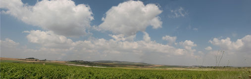 Ayalon Valley Panorama. Central Israel. Ayalon Valley, on the road to jerusalem.scenic view.Spring season Stock Photo