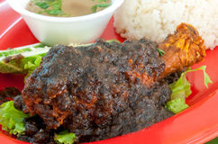 Ayam Penyet Black Pepper Royalty Free Stock Images