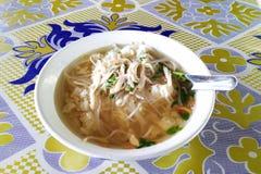 Ayam Soto очень вкусное и вкусное индонезийское особенное блюдо Ayam Soto готово быть съеденным куриный суп от Индонезии стоковая фотография
