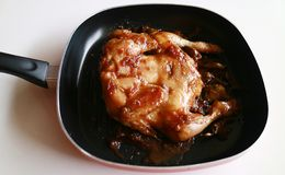 Ayam Ungkep. Chicken is cooked in spices prior to deep frying. Can be grilled too. Popular dish in Indonesia stock photos