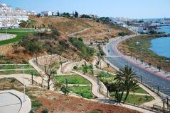 ayamonte横向南部的西班牙城镇 免版税图库摄影