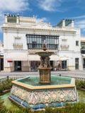 Ayamonte, πηγή, Plaza de Λα Coronacion Στοκ Εικόνες