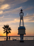 Ayamonte, Andalusia, Spain, sunset Stock Image