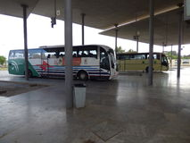 Ayamonte bus station Royalty Free Stock Image