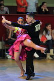 Ayan Zhumatayev and Liya Kazbekova - latin ballroom dancing Stock Images