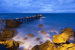 Ayana resort pier in Bali Royalty Free Stock Images