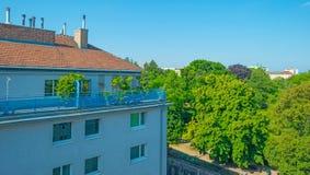 Ayant beaucoup d'étages avec des appartements à Vienne Photo stock