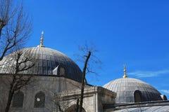 Ayasofia清真寺和天空 免版税图库摄影