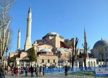 Ayasofia清真寺在Istanbil 免版税库存图片