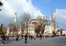 Ayasofia清真寺在Istanbil 库存图片