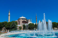 Ayasofya and fountain in Istanbul, Turkey Royalty Free Stock Images